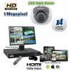 HD CVI Megapixel 4 Security Camera System