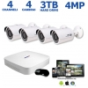 4 Channel 4MP 2K IP Security Camera System