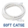 50ft CAT5e Cable White Bare Copper