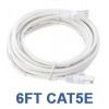 6ft CAT5e Cable White Bare Copper