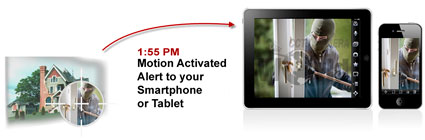CCTV Camera World security camera systems send alerts to your phone or tablet upon motion activation