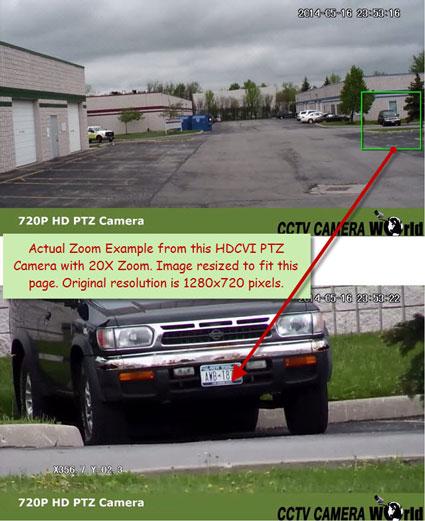 Hdcvi ptz camera 20x zoom example